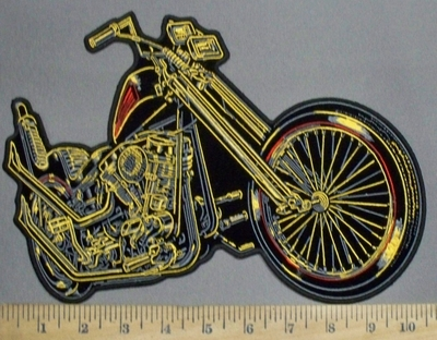 2859 G -DUPLICATE  Motorcycle - Back Patch - Embroidery Patch
