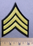 2717 CP - Sergeant Army Stripes - Embroidery Patch