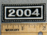 2262 L - Mini Year Patch - 2004 - Embroidery Patch