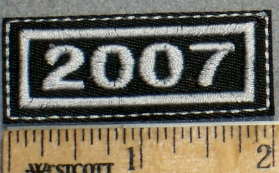 2266 L - Mini Year Patch - 2007 - Embroidery Patch