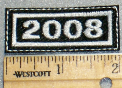 2258 L - Mini Year Patch - 2008 - Embroidery Patch