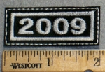 2264 L - Mini Year Patch - 2009 - Embroidery Patch