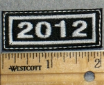 2261 L - Mini Year Patch - 2012 - Embroidery Patch
