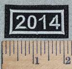3137 L - Mini Year Patch - 2014 - Embroidery Patch