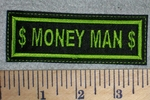 2631 L - $ Money Man $ - Green - Embroidery Patch