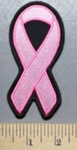 1955 CP - Pink Cancer Ribbon - Medium Size - Embroidery Patch