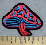 3305 N - Multi - Colored Mushroom - Embroidery Patch