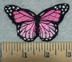 3214 C - Multi Pink Colored Butterfly - Embroidery Patch