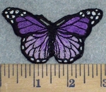 3211 C - Multi Purple Colored Butterfly - Embroidery Patch