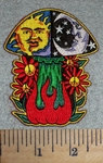 2694 N - Mushroom Delight With Flowers - Embroidery Patch