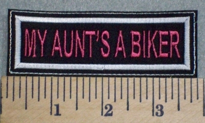 2542 L - My Aunt's A Biker - Purple - Embroidery Patch
