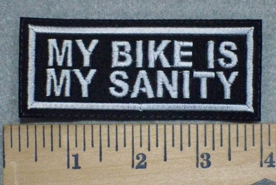 3235 L - My Bike Is My Sanity - Embroidery Patch