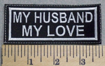 2549 L - My Husband My Love - Embroidery Patch