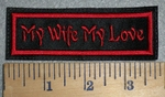 3392 L - My Wife - My Love - Red - Embroidery Patch