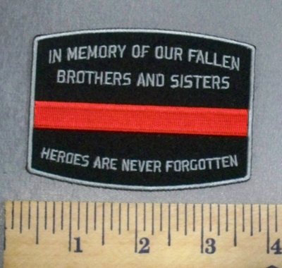 230 CP - In Memory Of Our Fallen Brothers And Sisters - Heroes Are Never Forgotten - Red Line -