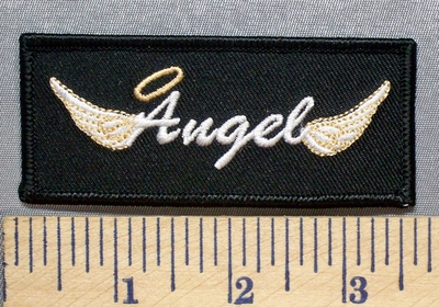 2539 S - Angel With Halo - Angel Wings - Embroidery Patch