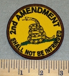 2358 W - 2nd Amendment  Shall Not Be Infringed - Round - Embroidery Patch