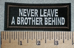 2749 L - Never Leave A Brother Behind - Embroidery Patch