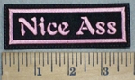 3425 L - Nice Ass - Pink - Embroidery Patch