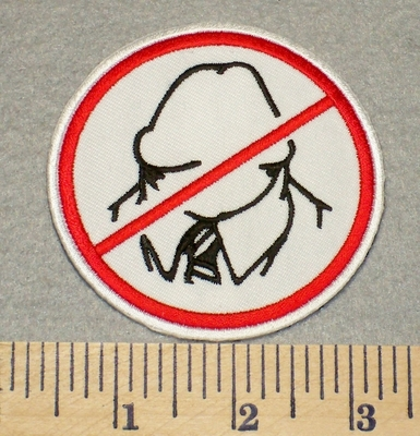 2326 G - No Dickheads - Embroidery Patch
