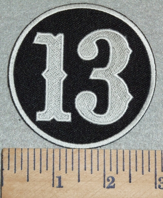 3055 G - Number 13 - Embroidery Patch