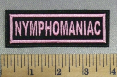 1128 L - NYMPHOMANIAC - Pink - Embroidery Patch