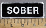 815 G - Sober - Embroidery Patch