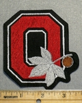 2246 L - Ohio State Buckeye Logo With Buckeye - Embroidery Patch
