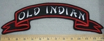 3315 L - Old Indian - Ribbon Style - Top Rocker - Embroidery Patch