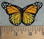 3210 C - Orange And Yellow Butterfly - Embroidery Patch