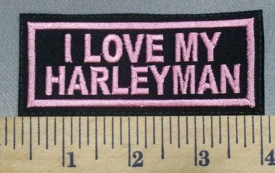 1313 L - I Love My Harley Man -  Embroidery Patch