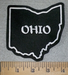 3194 L -  Outline Of State Of Ohio - Embroidery Patch