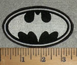 3203 L - Oval Batman New  Logo - Embroidery Patch