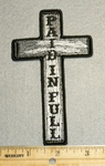 2253 G - Paid In Full Cross - Embroidery Patch