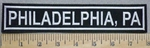 3308 L- Philadelphia, PA - Embroidery Patch