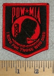 2774 W - POW - MIA - I Ride For Those Who Died - Red - Embroidery Patch
