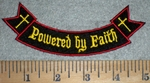 3367 W - Powered By Faith - Mini Rocker - Embroidery Patch