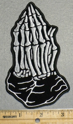 2249 N - Praying Skeleton  Hands - Embroidery Patch