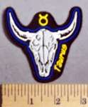 630 CP - Skull Zodiac -Taurus - Embroidery Patch