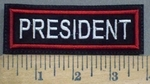 629 L - PRESIDENT PATCH - Embroidery Patch