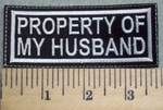 2564 L - Property Of My Husband - Embroidery Patch