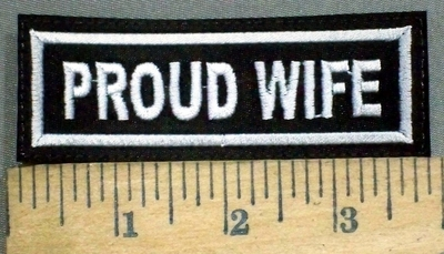 653 L - PROUD WIFE PATCH - Embroidery Patch