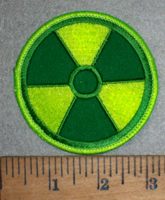 3518 W - Radio Active Symbol - Logo - Neon Green - Embroidery Patch