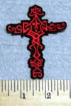 2939 G - Red Celtic Cross - Embroidery Patch