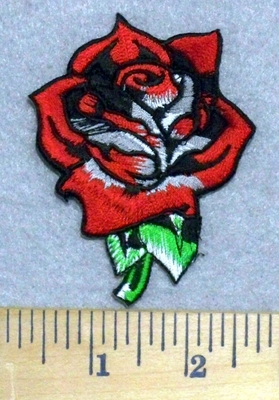 3307 N - Red Rose - Embroidery Patch