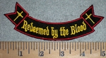 3372 W - Redeemed By The Blood - Mini Rocker - Embroidery Patch