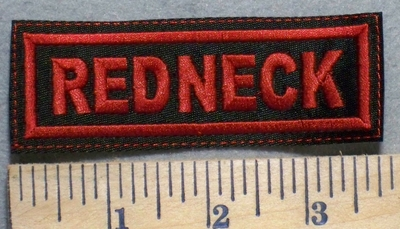 2524 L -Redneck - Red - Embroidery Patch