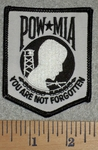2777 W - Reflective - POW - MIA - You Are Not Forgotten - Embroidery Patch