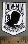 2666 L - REFLECTIVE - POW - MIA - You Are Not Forgotten - Embroidery Patch