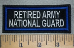 3173 L - Retired Army National Guard - Embroidery Patch
